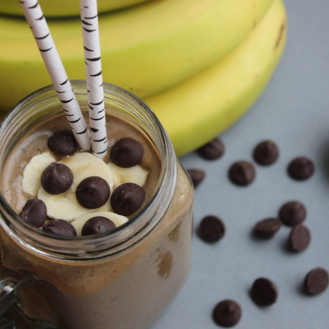 Almond Butter Chocoalte Banana Smoothie